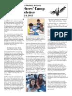 YWC Newsletter—Cardiff School  2015