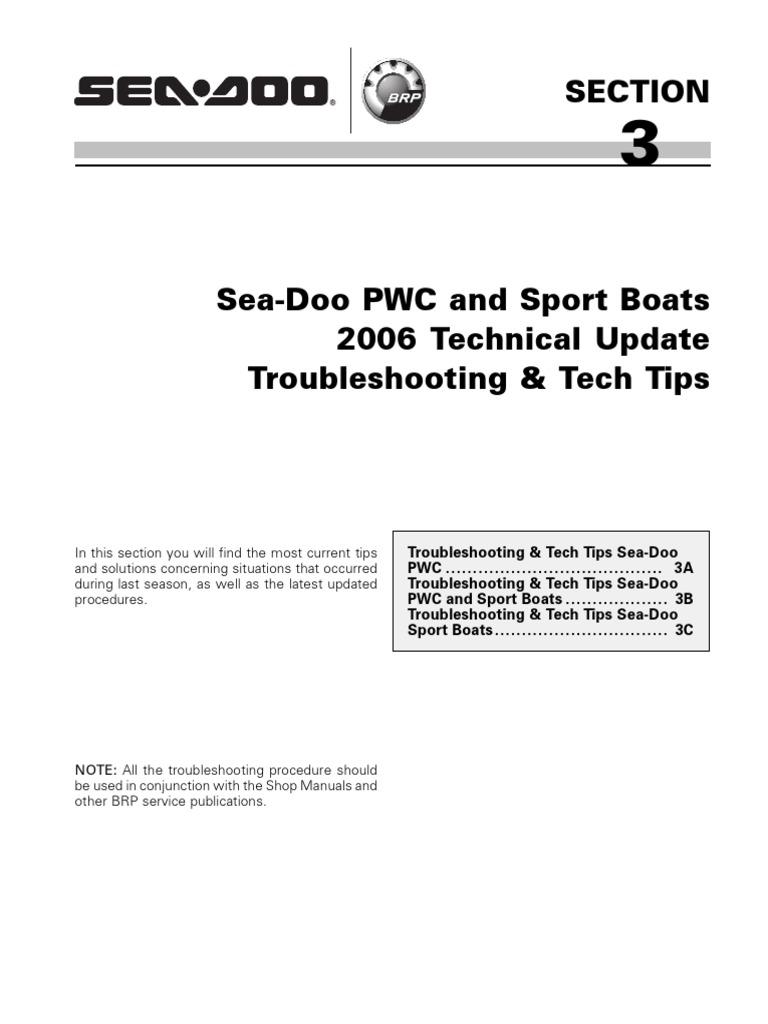 2006 PWC-Boats Tech Update Troubleshooting   Piston   Throttle