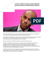 Shadow business secretary Chuka Umunna fordert Bundes-UK mit einem englischen Parlament während der Rede in Washington DC