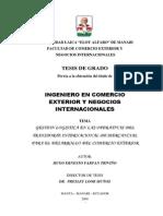 gestion logistica en las  operativa del transporte internacional de mercancia para el desarrollo del comercio exterior