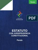 Estatuto Departamental Pando Con Jurisprudencia