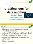 Creating Logs for Data Auditing