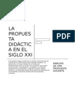 La propuesta didáctica en el Siglo XXI