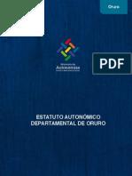 Estatuto Departamental de Oruro Con Jurisprudencia