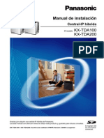 Manual de Instalacion Panasonic TDA 100/200