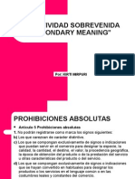 DISTINTIVIDAD SOBREVENIDA