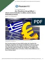Nach Griechenland-Referendum - Die Büchse Der Pandora Ist Geöffnet – Diese Euro-Länder Wollen Auch Einen Schuldenerlass