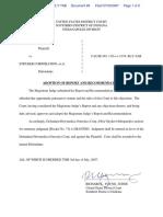 THORNBURG v. STRYKER CORPORATION et al - Document No. 89