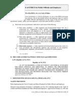 Code of Ethics Public Officials - CRES 2013