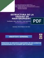 estructura de mantenimiento general