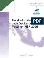 Resultados nacionales de pisa grado modal de pisa 2006