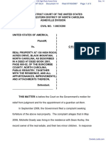 United States of America v. Real Property at 130 High Rock Acres Drive - Document No. 14