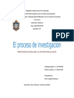 El Proceso de Investigación ENSAYO