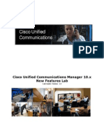 Cisco Unified Communications Manager 10.x New Freatures