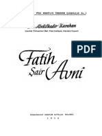 Abdülkadir Karahan - Fatih, Şair Avnî