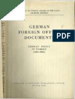 (Milli Şefin Alman Ajanlığı) 1948 - German Policy in Turkey (1941-1943)