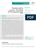 Hartmann's Procedure And Its Outcome - An Analysis Of 78 Consecutive Cases