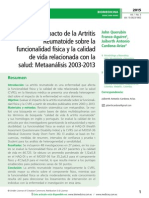 Impacto de la Artritis Reumatoide sobre la funcionalidad física y la calidad de vida relacionada con la salud