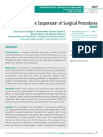 Monitoring the Suspension of Surgical Procedures
