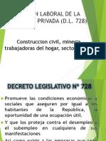 RÉGIMEN LABORAL DE LA ACTIVIDAD PRIVADA D.L. 728
