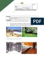 Evaluación de Ciencias Naturales Las Estaciones Del Año