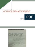 violent risk assessment (cheryl chase july 24 2015)