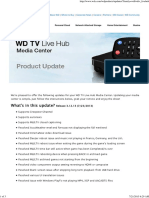 WD Product Update