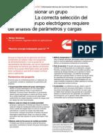 Dimensionamiento de Grupos Electrógenos