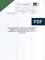 Plan de Segurida y Salud Ocupacional Para La Gerencia de Proyecto Centro Comercial Hipermercados