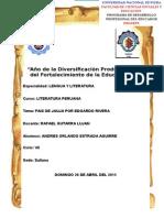 Tarea Literatura Peruana 26Abril2015