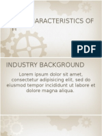 Key Characteristics of IT