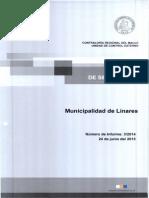 Informe de Seguimiento 3-14 Municipalidad de Linares Eventuales Irregularidades - Junio 2015 (1)