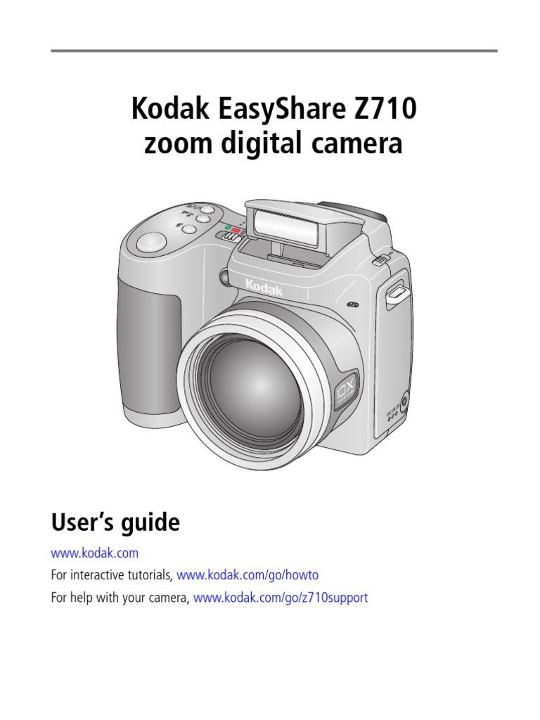 manual book of z710 shutter speed exposure photography rh scribd com Batteries Kodak EasyShare ZD710 Manual for Kodak EasyShare