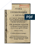 Vida y Sucesos Prosperos y Adversos de Don Fr Bartolome de Carranza y Miranda Arzobispo de Toledo