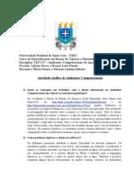Atividade Análise de Ambientes Computacionais Flávia e Mouraci - Química