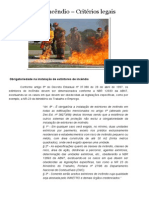 Extintores de Incêndio – Critérios Legais