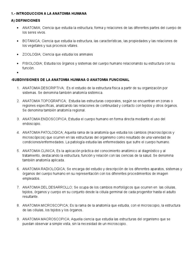 Fantástico Definición Anatomía Humana Composición - Anatomía de Las ...