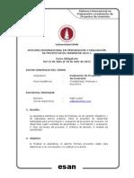 Sílabus Esan 2015 - Evaluación de Proyectos de Inversión
