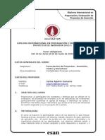 Sílabus Esan 2015 - Inversión, Costos y Beneficios