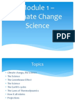 Climate Change Science (Module 1)