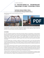 The Role of Geotechnical Temporary Works on Infrastructure Construction in Ireland