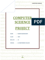 Computer Project For ISC