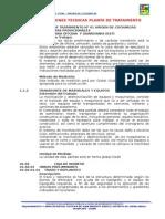 Especificaciones Tecnicas Virgen de Cocharcas Ptar 01_ya