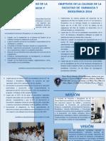 Boletin Mision Vision Politica Objetivos 11-19-2014