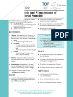 Acute Bacterial Sinusitis Guideline