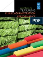 Users' Guide for Measuring Public Administration Performance