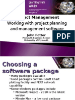 Working With Project Planning and Management Software