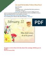 Shri Shirdi Sai Speaks for 22nd Feb