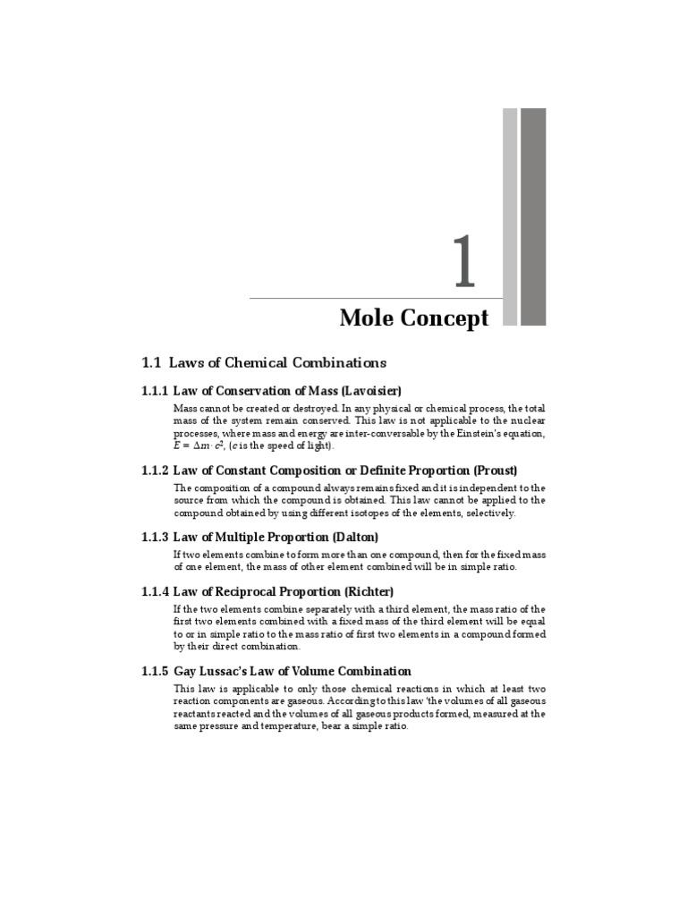 Mole concept molecules chemical compounds biocorpaavc