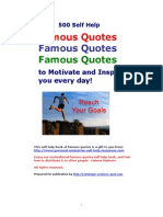 500 Famous Quotes Self Help Book